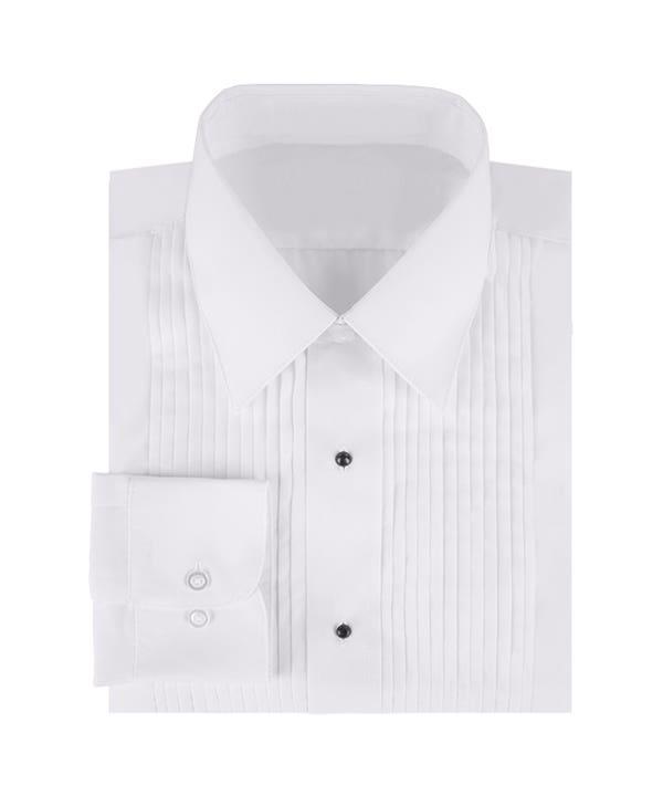 Men's Long Sleeve Lay-Down Collar Tuxedo Shirt