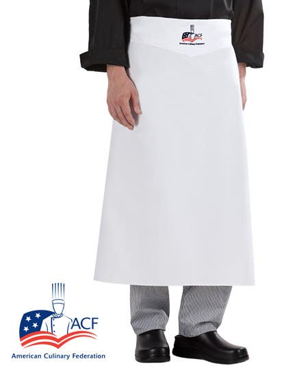 ACF Chef Bistro Apron - White Denim