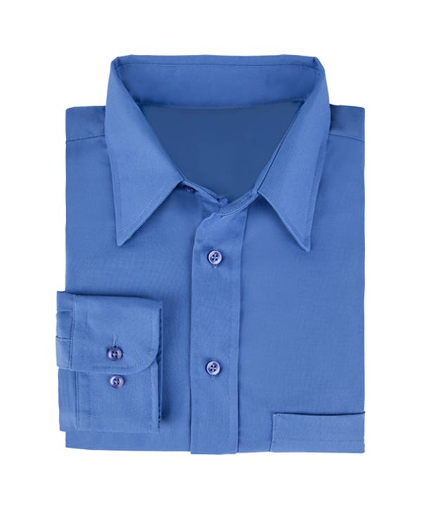 Men's Long Sleeve Point Collar Poplin Shirt