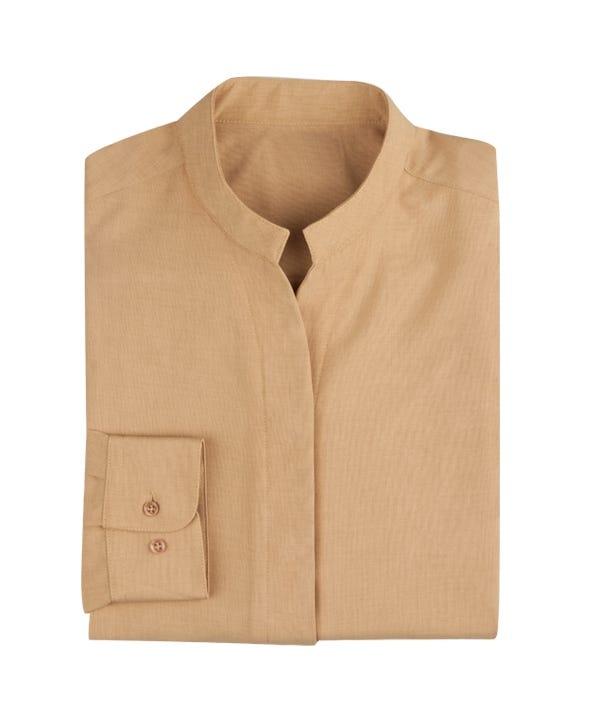 Women's Stand-Up Collar Long Sleeve Shirt